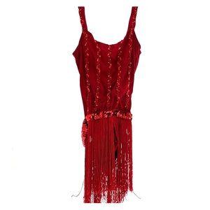 Red sequin dance costume